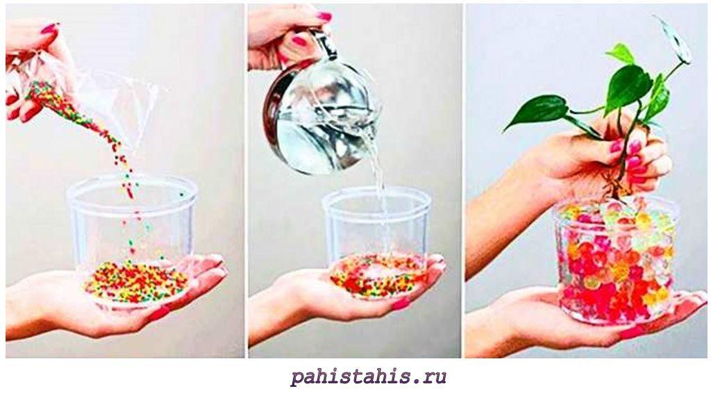 Применение аквагрунта для растений
