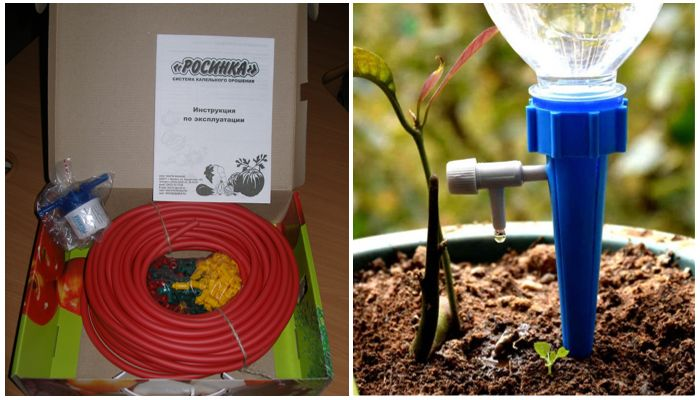 Система микрокапельного полива для теплиц и горшечных растений Росинка